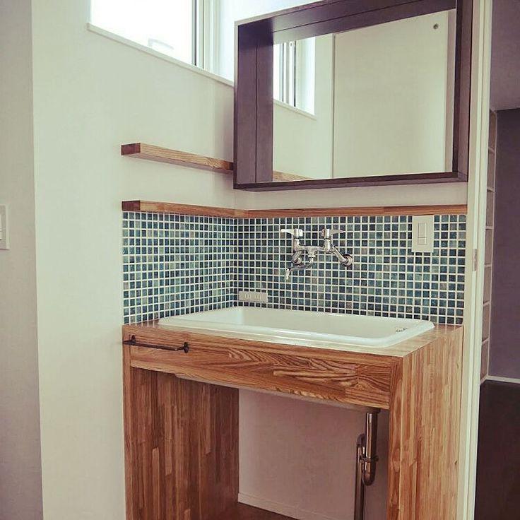 IKEA/名古屋モザイク /洗面所/バス/トイレのインテリア実例 - 2015-02-20 22:11:11 | RoomClip(ルームクリップ)