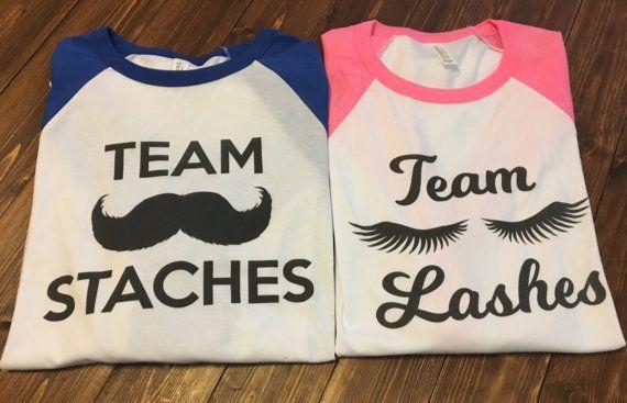 2 Gender Reveal Shirt. Gender Reveal Baseball. by GiftShopBoutique