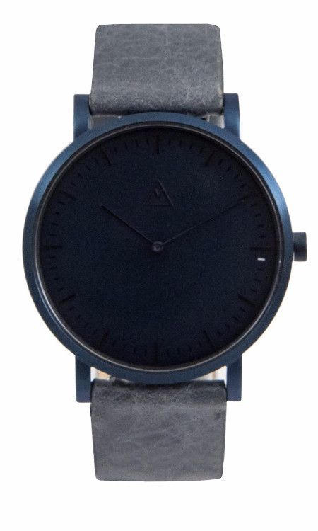 The Intro Sapphire / Sapphire / Granite Leather by Medium.