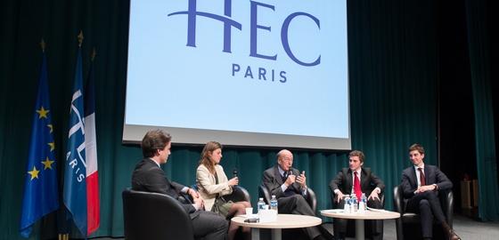 Valéry Giscard d'Estaing devant les étudiants d'HEC : l'Union européenne a encore de l'avenir mais pas à 27