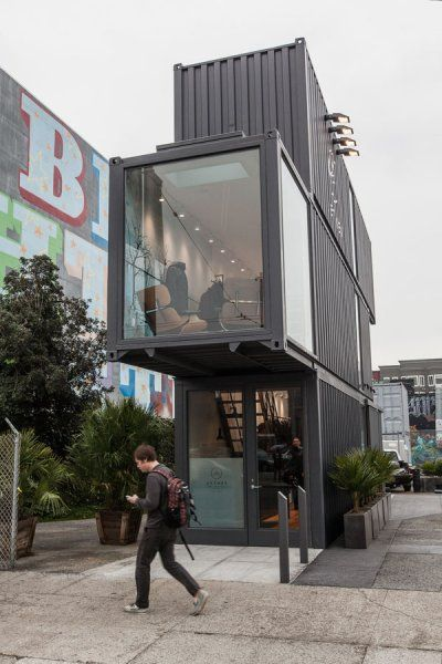 The exterior of Aether Apparel, a Proxy project in San Francisco, CA. Photo by Peter Prato.