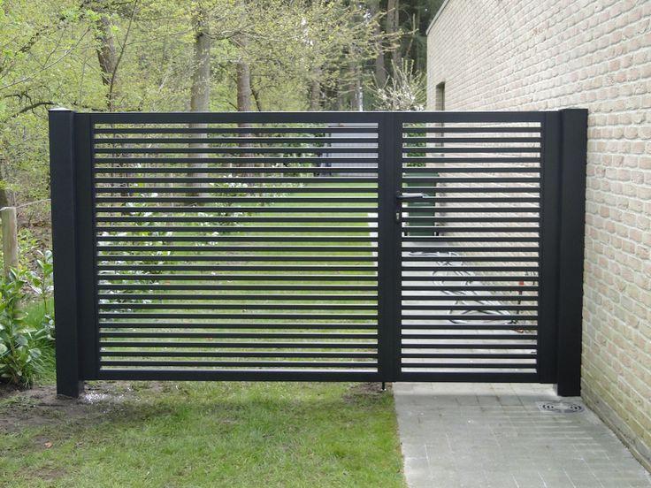 Tore Und Zaune Aluminium Doppeltor In 2020 Zaun Garten Gartentore Vorgarten Zaun