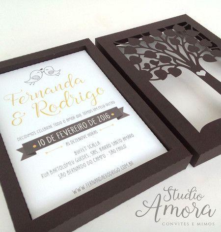Convite caixa árvore