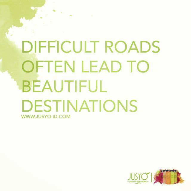 Difficult roads often lead to beautiful destinations.  Berani baik berani sehat!  #Jusyo - Untuk Kebaikan  #jusyo_id #coldpressedjuice #raw #pure #healthyliving #running #trialrun #marathon #halfmarathon #yoga #jakarta #jakartaolshop #indonesia #indonesiaolshop