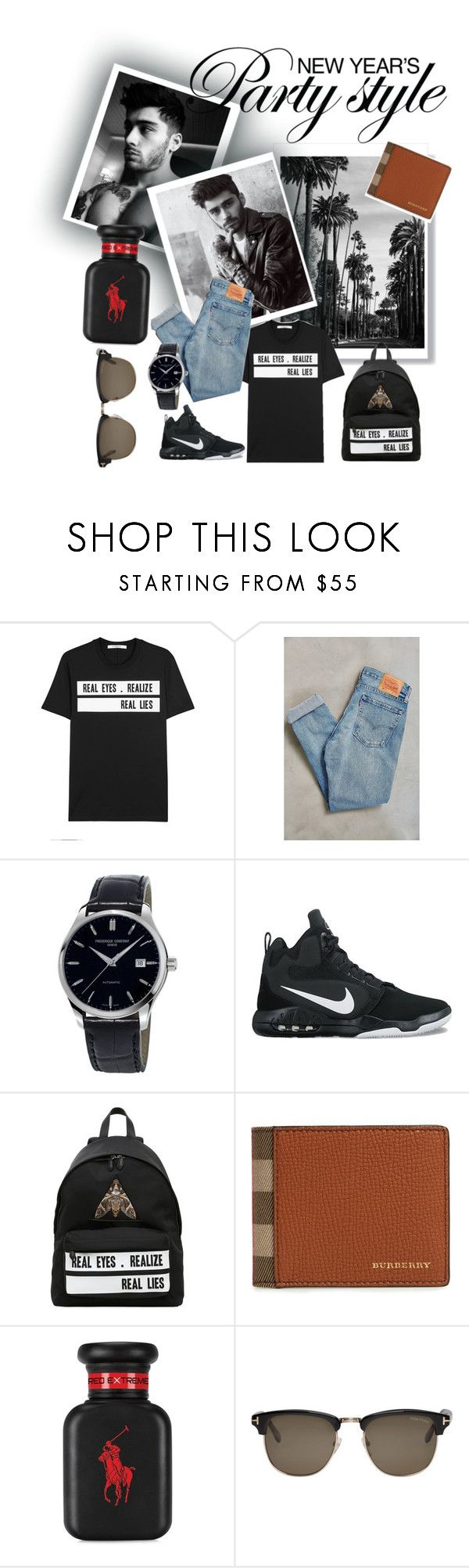 """Men's fashion #2"" by beautyqueendaniella ❤ liked on Polyvore featuring Givenchy, Levi's, Frédérique Constant, NIKE, Burberry, Ralph Lauren, Tom Ford, men's fashion and menswear"