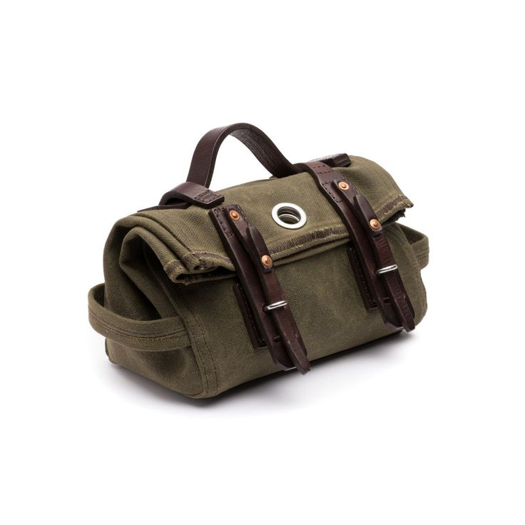 canvas tool bag medium in moss green canvas