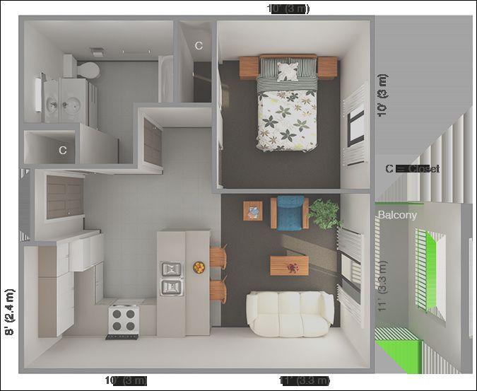 13 Superb Interior Design Ideas One Bedroom Apartment Stock Arsitektur Rumah Rumah Arsitektur
