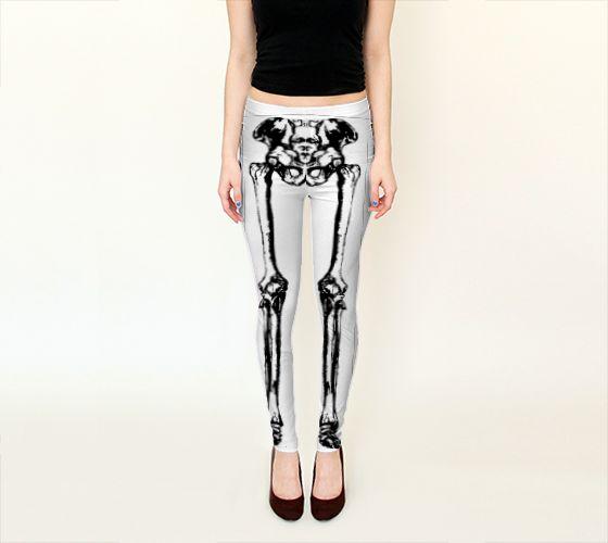Neg Bones Leggings - Available Here: http://artofwhere.com/shop/product/54633