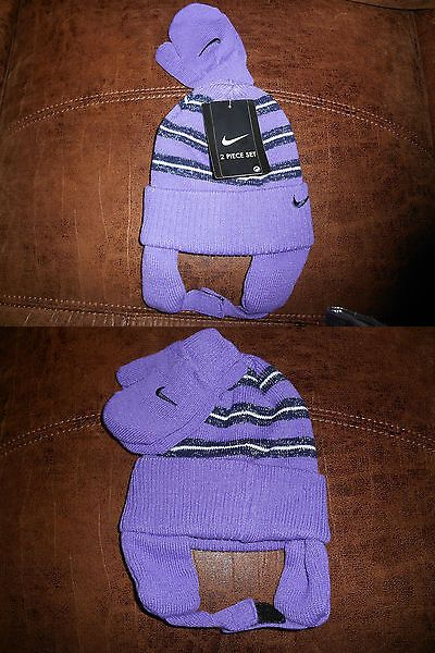68067a36a865c Gloves and Mittens 163225  Girls Toddler Nike Vintage Striped Hat And Mittens  Set 2T-4T Nwt -  BUY IT NOW ONLY   15 on  eBay  gloves  mittens  girls ...