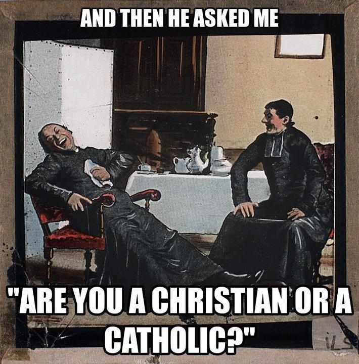 Catholic Memes (On Facebook). I love this meme partly because I encounter this distinction fairly often and it frustrates me to no end.