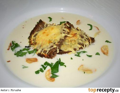 Česneková krémová polévka