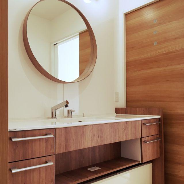 suuuu.さんの、洗面室,ラシス,IKEA ミラー,キッチンパネル,独立洗面所,バス/トイレ,のお部屋写真