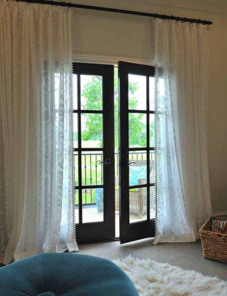 best 25 french door curtains ideas on pinterest door curtains door window curtains and. Black Bedroom Furniture Sets. Home Design Ideas