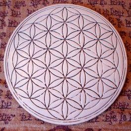 Flower of life Yantra Orgonite Plate