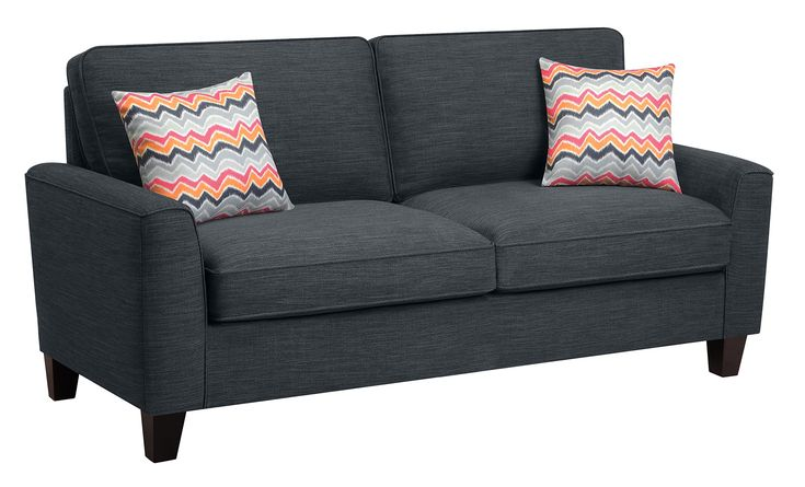 "Serta Deep Seating Astoria 78"" Sofa in Charcoal. Bring full size comfort into any size space. Sink into deep, comfortable modern seating. Upgraded single platform base for extra strength and durability. Enjoy Simple assembly with easy locking mechanisms. Durable, easy to clean upholstery."