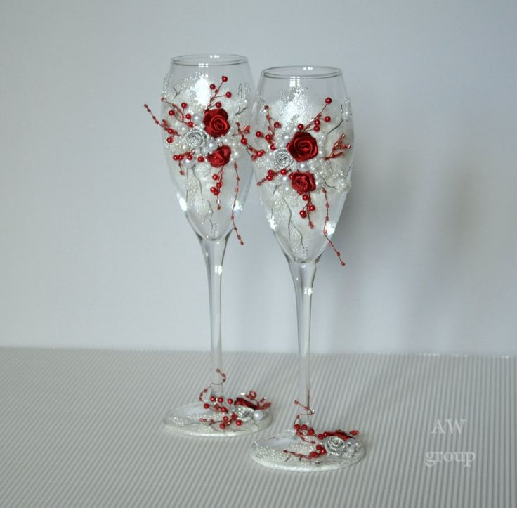 Elegant Wedding Champagne Flutes Toasting Gles Personalized Ceremony Silver