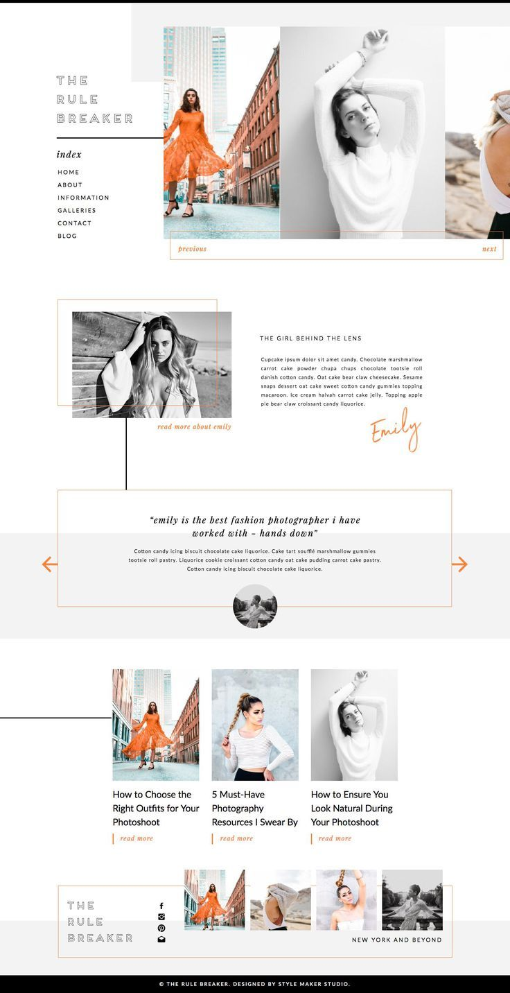 The Rule Breaker Modern Website Template With Coordinating WordPress Blog Responsive Tem Business Web Design Portfolio Website Design Website Design Company