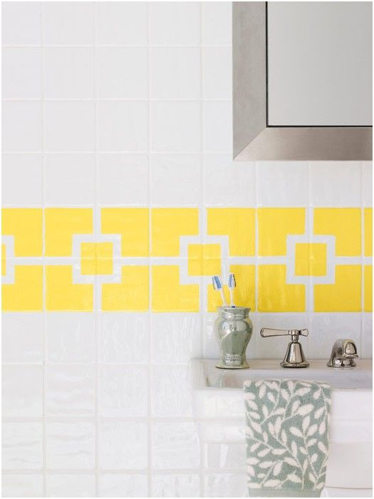 awesome Lovely Painting Ceramic Tile Bathroom