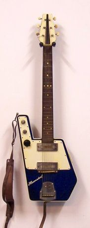 Hernnsdorf blue sparkle / odd obscure odd shaped #guitar http://ozmusicreviews.com/christmas-gifts-for-guitarists