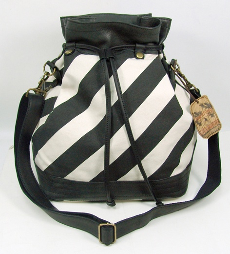 Striped Duffle