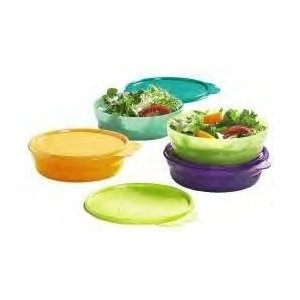 Tupperware Cereal Bowl Set - only the ones I remember were pastel shades and I always had the pink one!