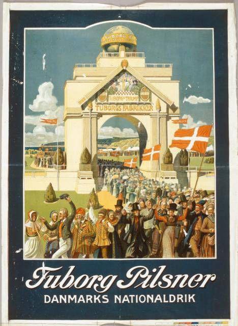 1909 г. Расмус Кристенсен (Rasmus Christensen) Плакат был сделан для выставки Аархусе (Ютландия).