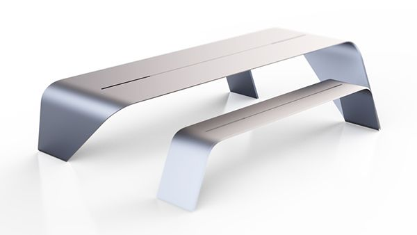 Aluminium TableContinuity of the linesSculptural AspectHigh tech DesignThis is the FIrst Model :)