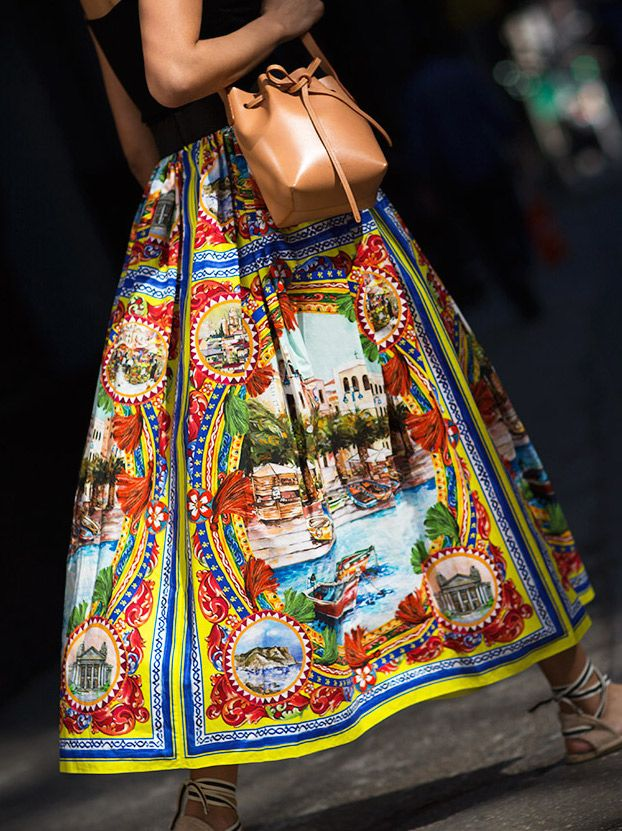 The Midi Skirt / Dolce & Gabbana, Saludos, Mansur Gavirel / Garance Doré
