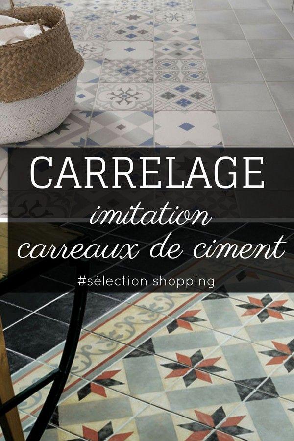 17 meilleures id es propos de imitation carreaux de ciment sur pinterest carrelage ceramique - Tapisserie imitation carreaux de ciment ...