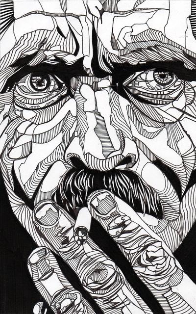 Illustration by luke dixon - pen art