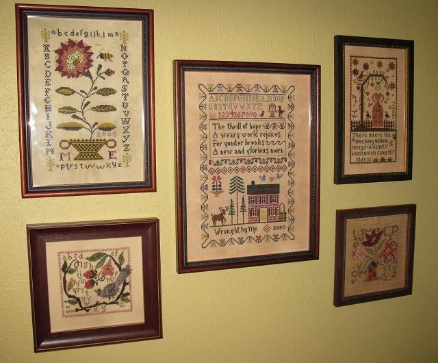 Melissa's sampler wall
