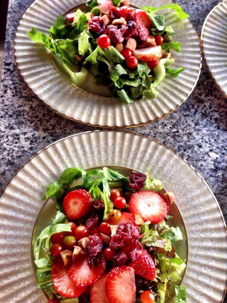Ensalada frutos rojos & nueces