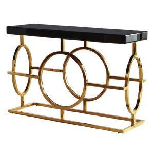 Park Lane Black & Gold Console Table