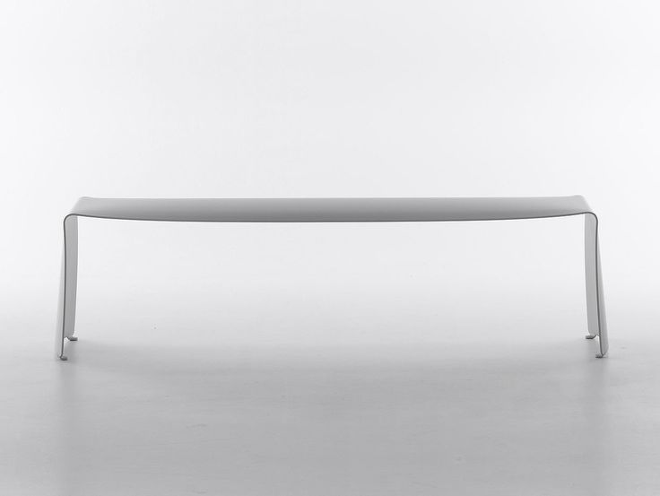 Le Banc, Curved aluminium (6 mm.) bench, Designed by Xavier Lust, 2000, MDF Italia