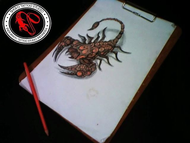 Scorpion 3D Tattoo Colour Design - Shoko Tatto Studio