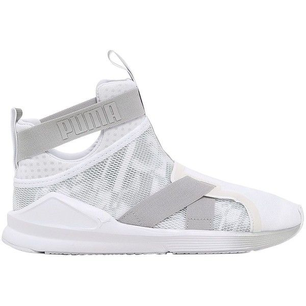 Puma Select Women Fierce Kylie Jenner Swan Strap Sneakers ($71) ❤ liked on Polyvore featuring shoes, sneakers, white, puma shoes, white trainers, rubber sole sneakers, puma sneakers and monk-strap shoes