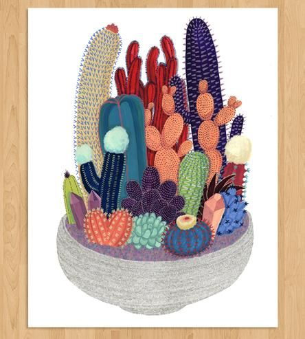 Crystal & Cactus Art Print by Cactus Club on Scoutmob Shoppe