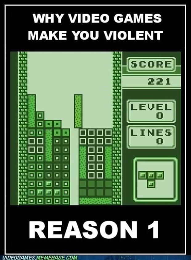 thants right, video games don't need guns and blood and gore to make you spin into a violent rage