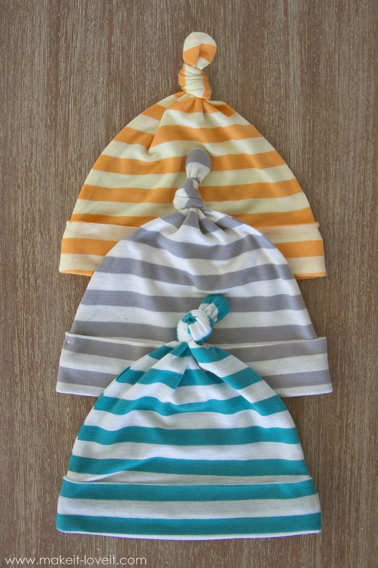Stretchy Baby Hats...with Top Knots (template included) | Make It and Love It