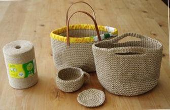 初夏の季節にぴったり! 梱包用の麻紐でつくる麻紐バックがおしゃれで楽しいと話題!