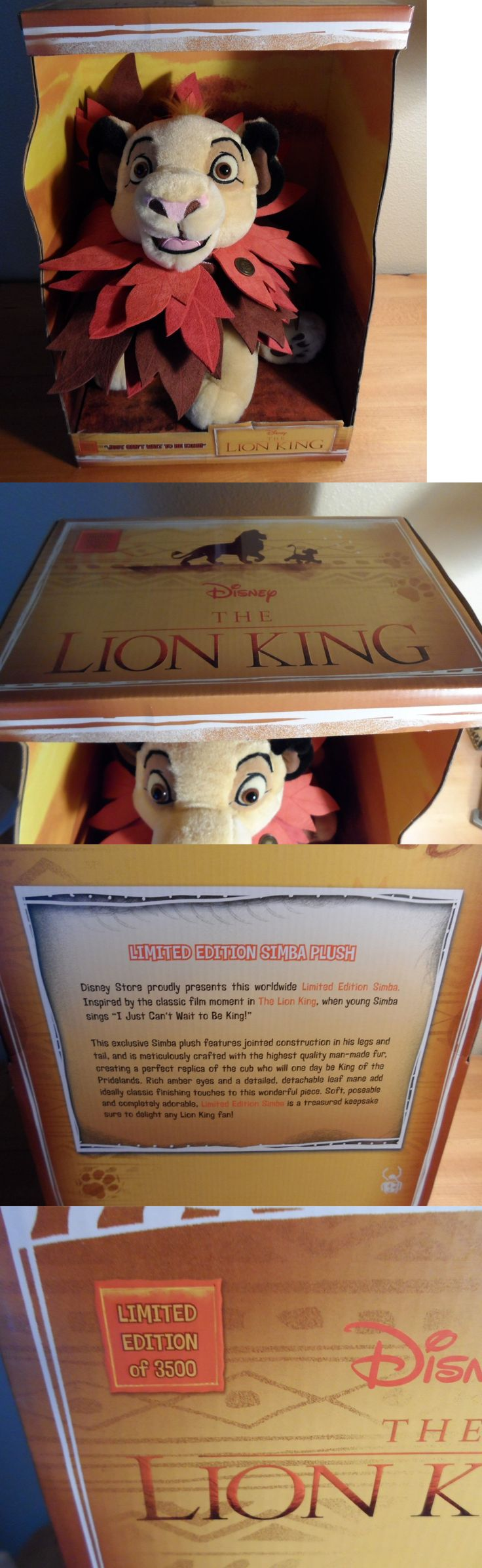 Lion king 44037 disney store the lion king worldwide simba plush toy limited edition of
