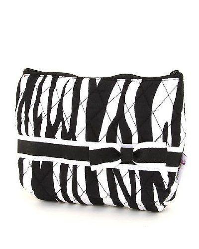 Black & White Zebra Animal Print Small Cosmetic Case Bag Handbag Incorporated. Save 35 Off!. $12.99