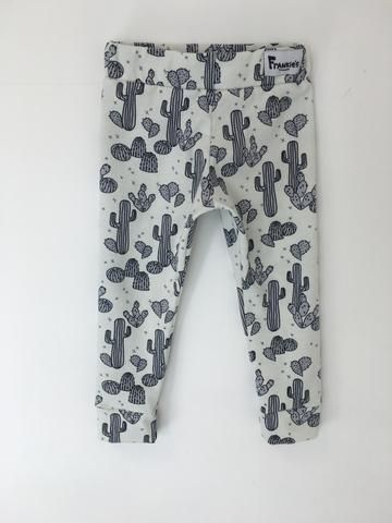 Monochrome Cactus Leggings