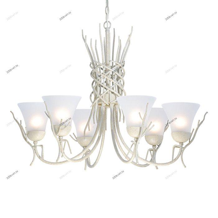A4111LM-6WA Итальянская подвесная люстра Arte Lamp Brushwood белая