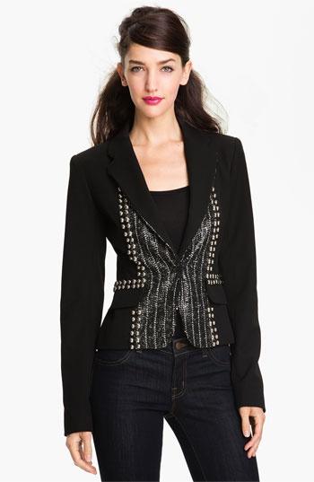 Georgina wore the Nanette Lepore 'Fame' Embellished Blazer on the series finale of Gossip Girl