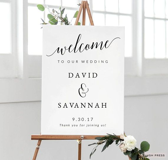 Wedding Welcome Sign Template, Printable Welcome to Our