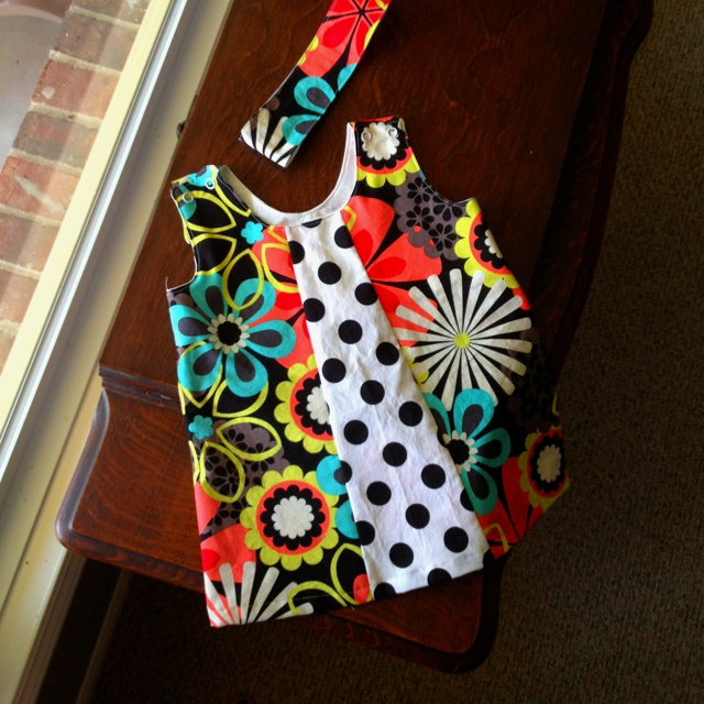 Toddler Tunic top and matching reversible headband
