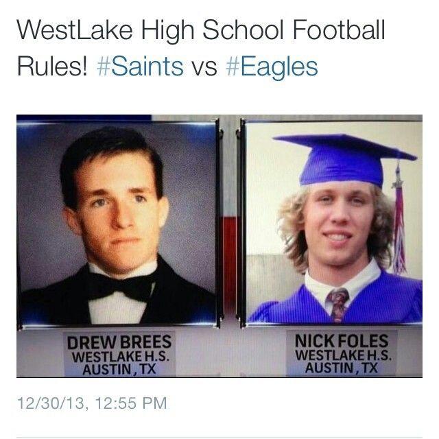 DREW BREES vs. NICK VOLES. SAINTS VS EAGLES