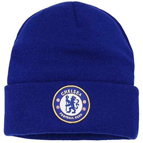 Official Football Merchandise Kids Junior Chelsea FC Core Winter Beanie Hat (One Size) (Royal Blue)