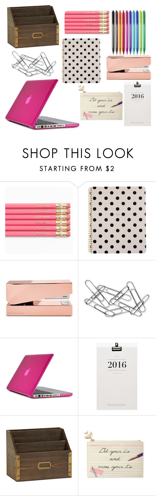 """Cute Office Supplies"" by peacefreak27 ❤ liked on Polyvore featuring interior, interiors, interior design, home, home decor, interior decorating, Paper Mate, Kate Spade, Tom Dixon and Home Decorators Collection"